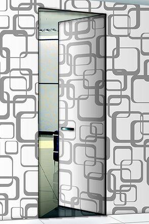Le poerte invisibili battente filo muro della collezione Essential di Scrigno