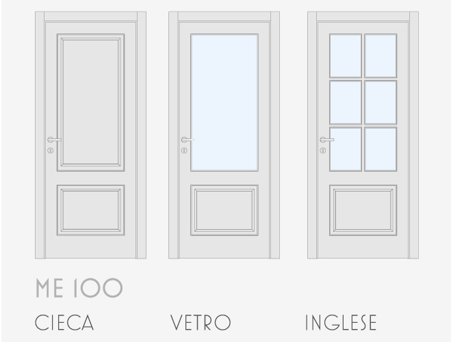 Porta In Offerta Me 100 Inglese Laccata Bianco Gruppo Orvi Serramenti