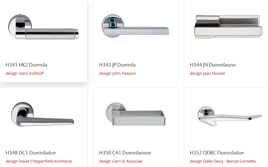 Maniglie fusital di design gruppo orvi serramenti - Maniglie ottone per porte ...