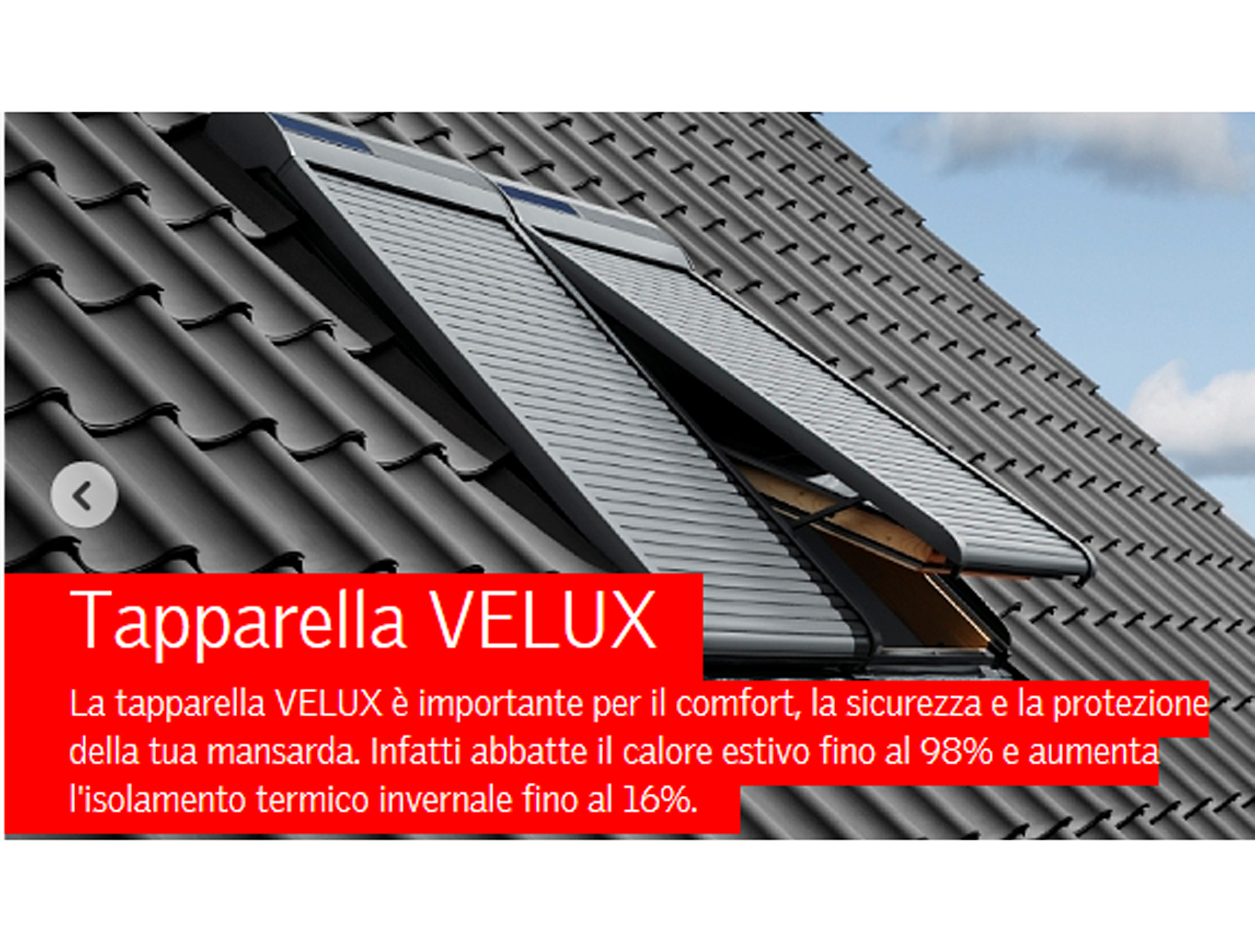 Accessori velux avvolgibili e tende tende parasole for Finestre velux tende