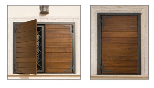 Persiane e sportelloni in legno gruppo orvi serramenti