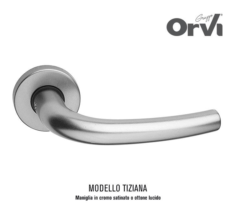 Offerta maniglia cromo satinata modello Tiziana | Euro 12,00 | ORVI