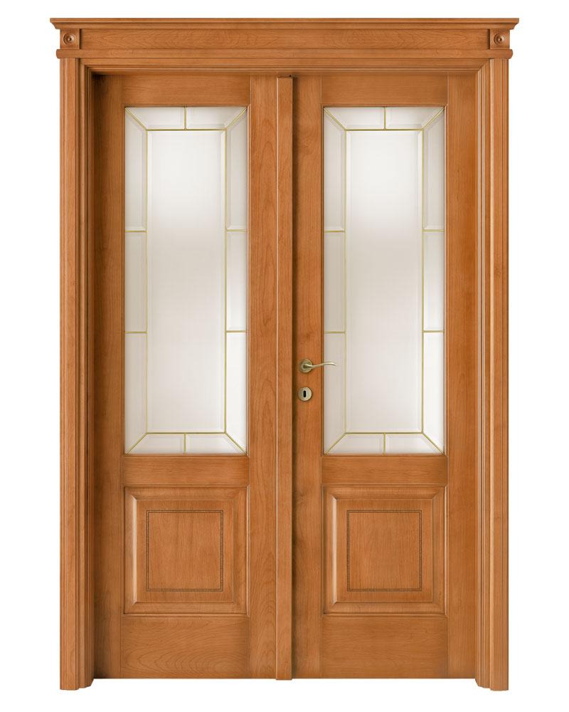 Porta da interno massello di alder collezione intarsio for Porte a battente