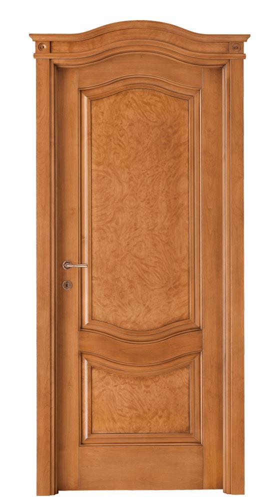 Porta da interno massello di alder collezione le radiche gruppo orvi serramenti - Porte noce chiaro ...