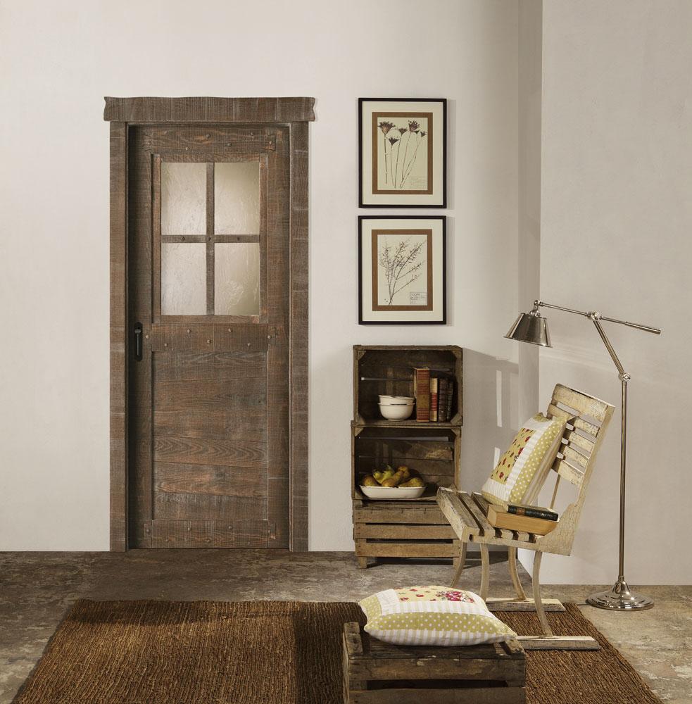 Porta da interno country in massello artigianto povero - Cerco porte da interno ...