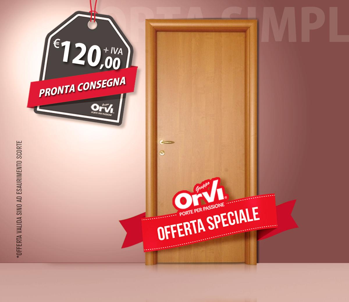 Porta liscia in laminato - In offerta a soli € 120,00 + IVA - Orvi ...