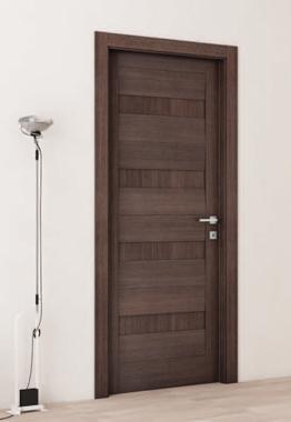 Porta interno, melamminico, effetto legno cacao