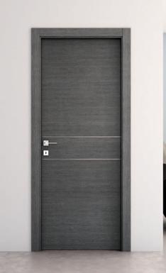 Porta interno, melamminico, effetto legno vaniglia-cenere