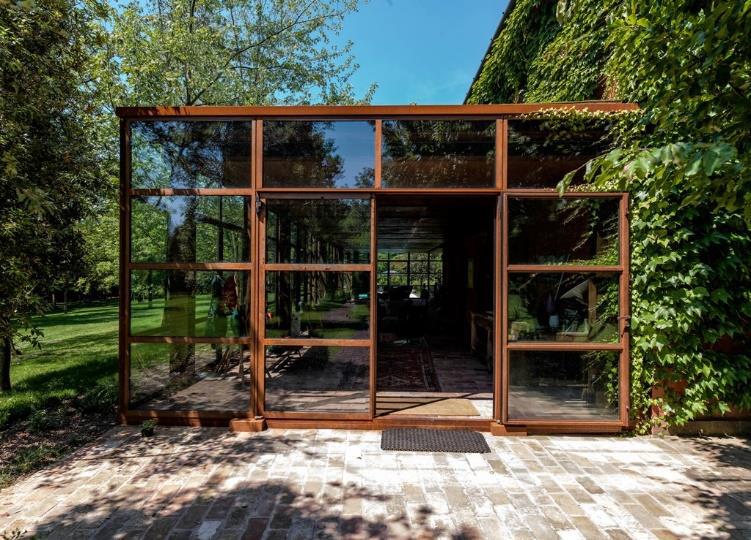 Mogs Serra Solare Taglio Termico Design Vetro Corten 65