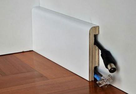 Battiscopa in legno e laminato orvi serramenti laccato - Porta tocca pavimento ...