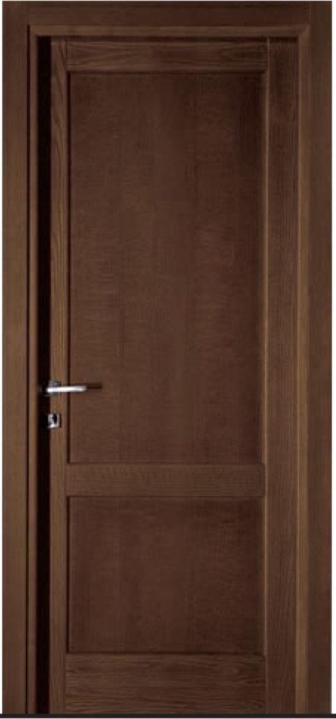 Porta in massello di rovere orvi serramenti roma - Porte interne rovere grigio ...