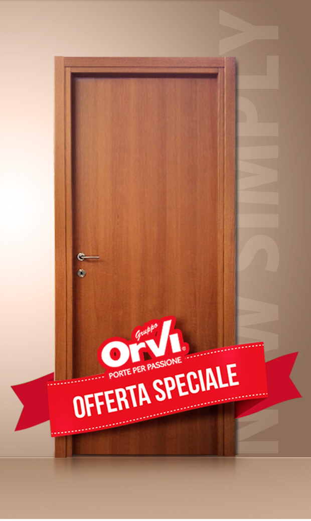 Porta New Simply in noce naturale