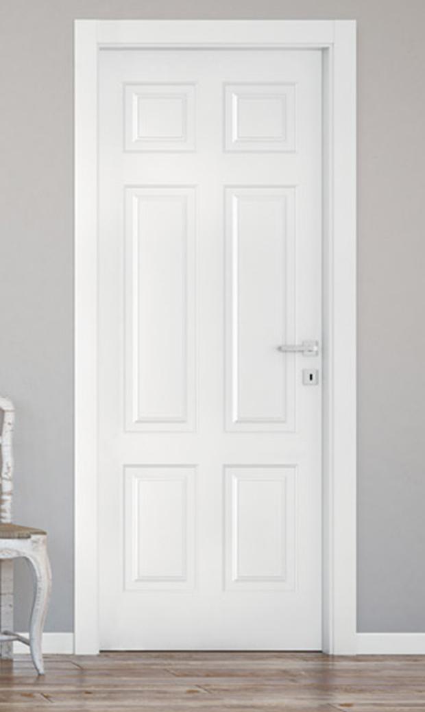 Porta laccata bianca metrica107c