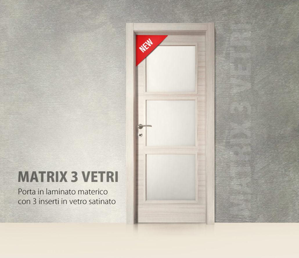 Porta Modello Matrix 3 Vetri