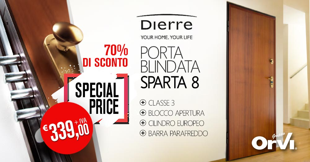 Portone Blindato Dierre Sparta 8 | Pronta consegna € 389,00 | Orvi ...