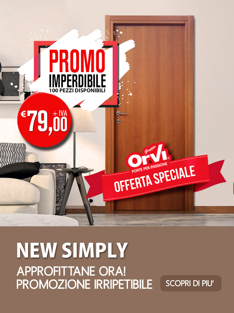 Porta in offerta news simply
