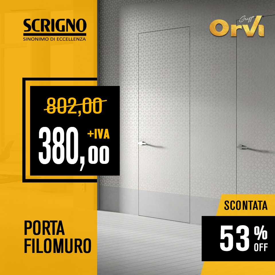 Porta filomuro Scrigno in promo ad Euro 380,00 da Orvi Serramenti Roma
