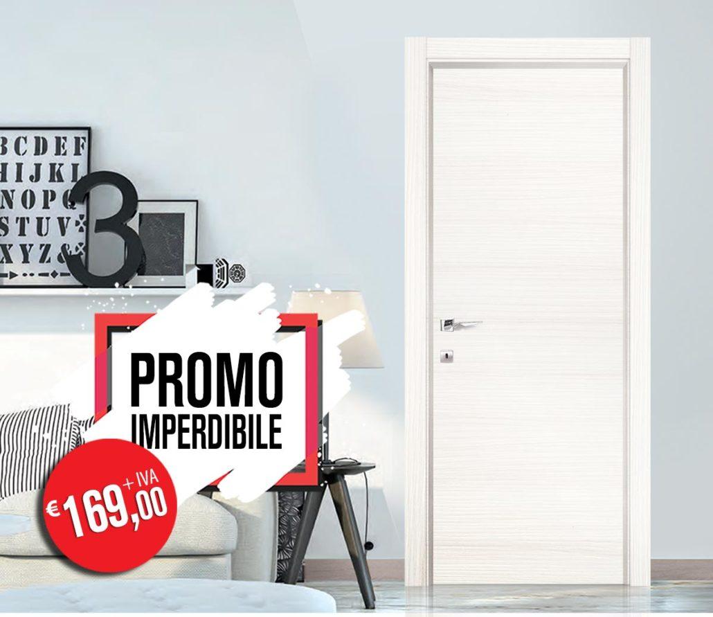 Porta da interno in bianco Lares in promo a Euro 169,00 da Orvi Serramenti Roma