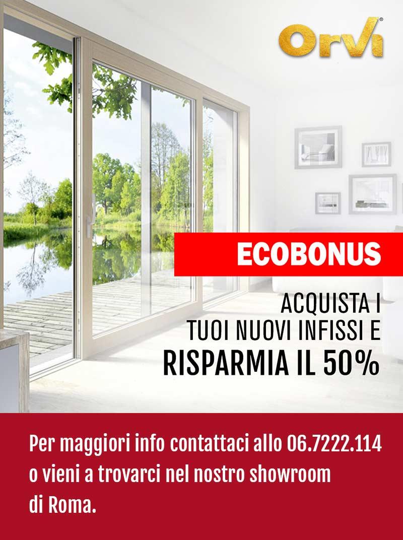 Ecobonus infissi Orvi Serramenti