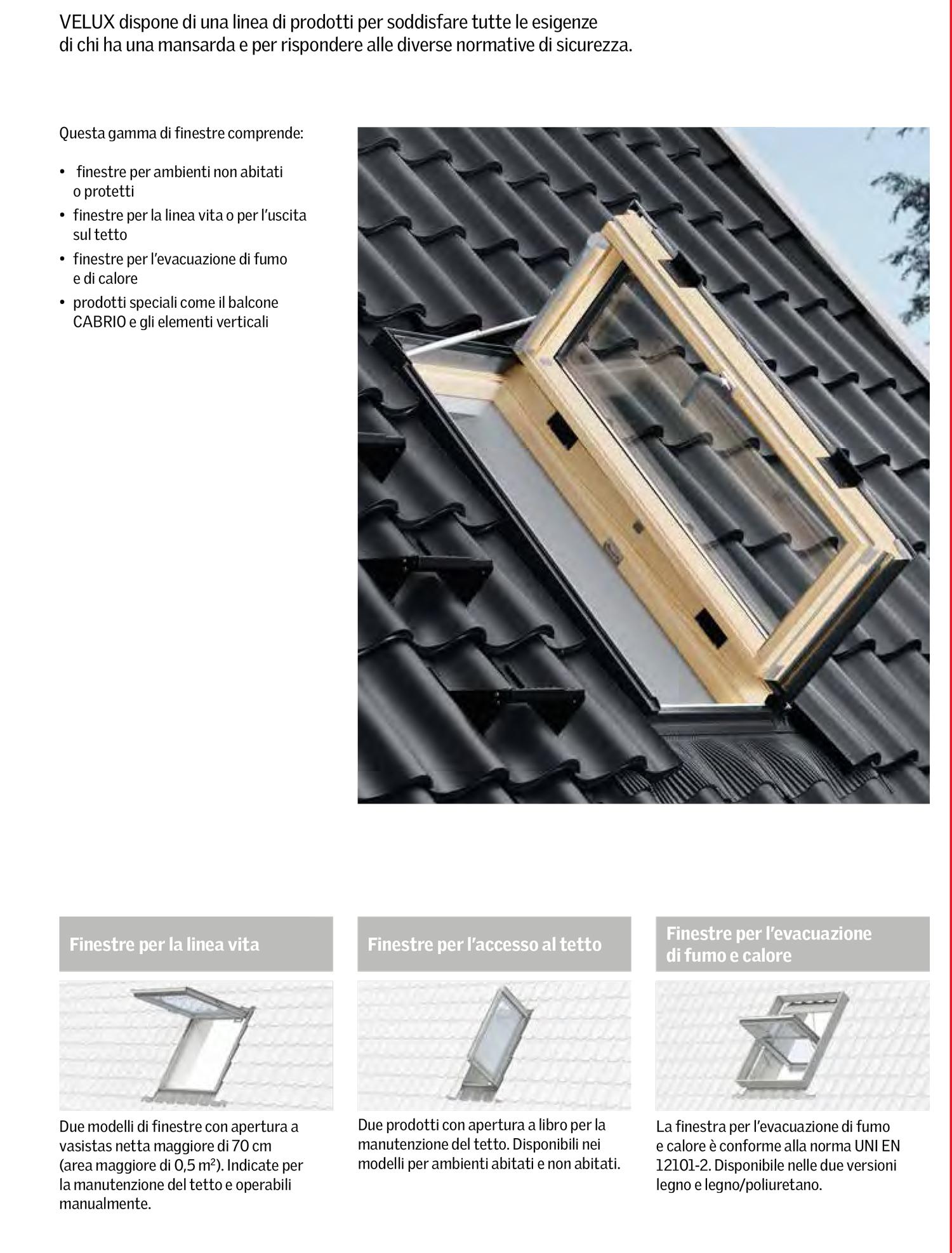Velux: finestre da tetto e lucernari
