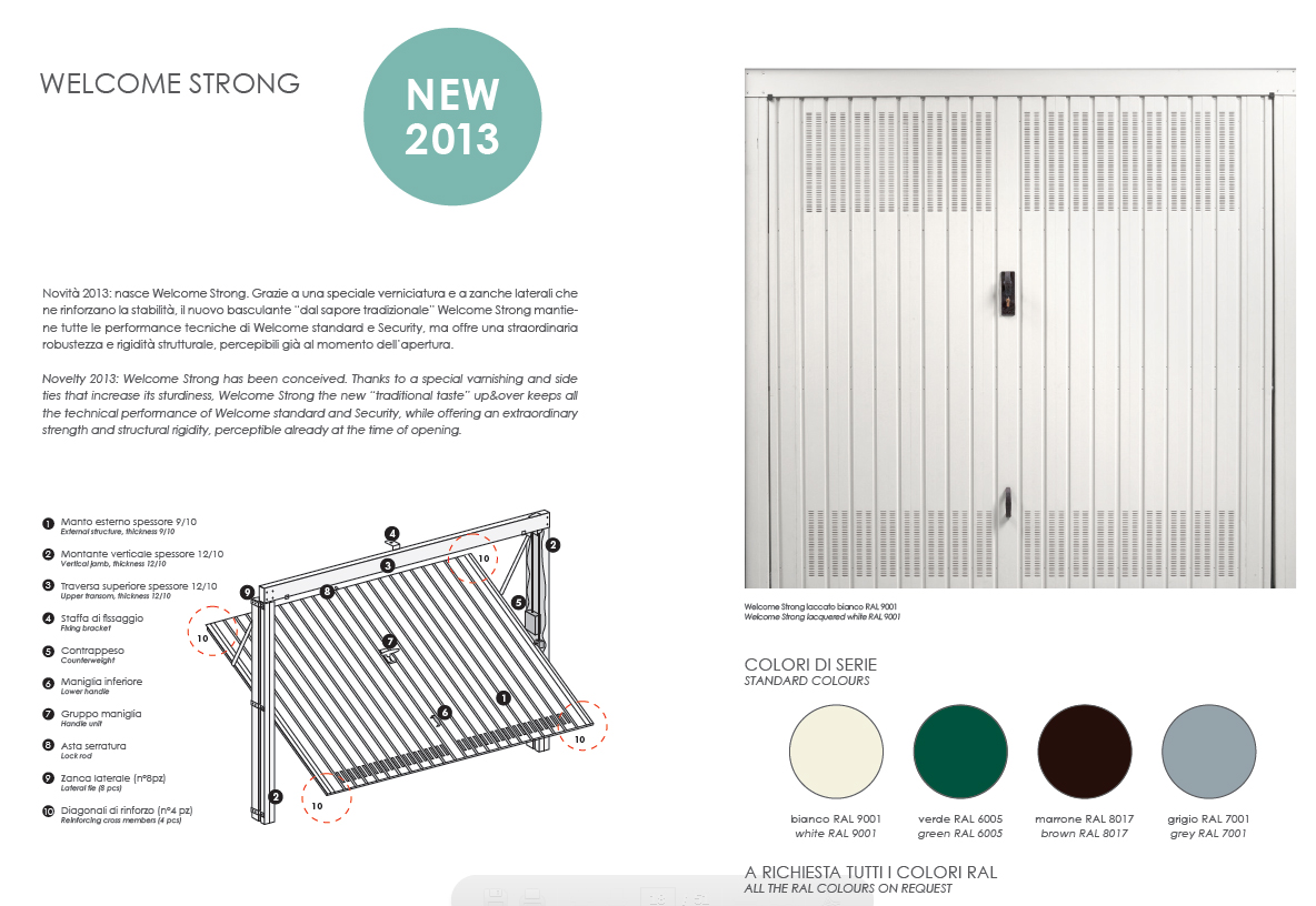 Porte Welcome Orvi - basculanti per garage