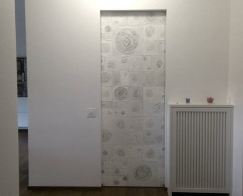 Porte e Pareti Il Papiro Art, personalizzate, in resina filo muro