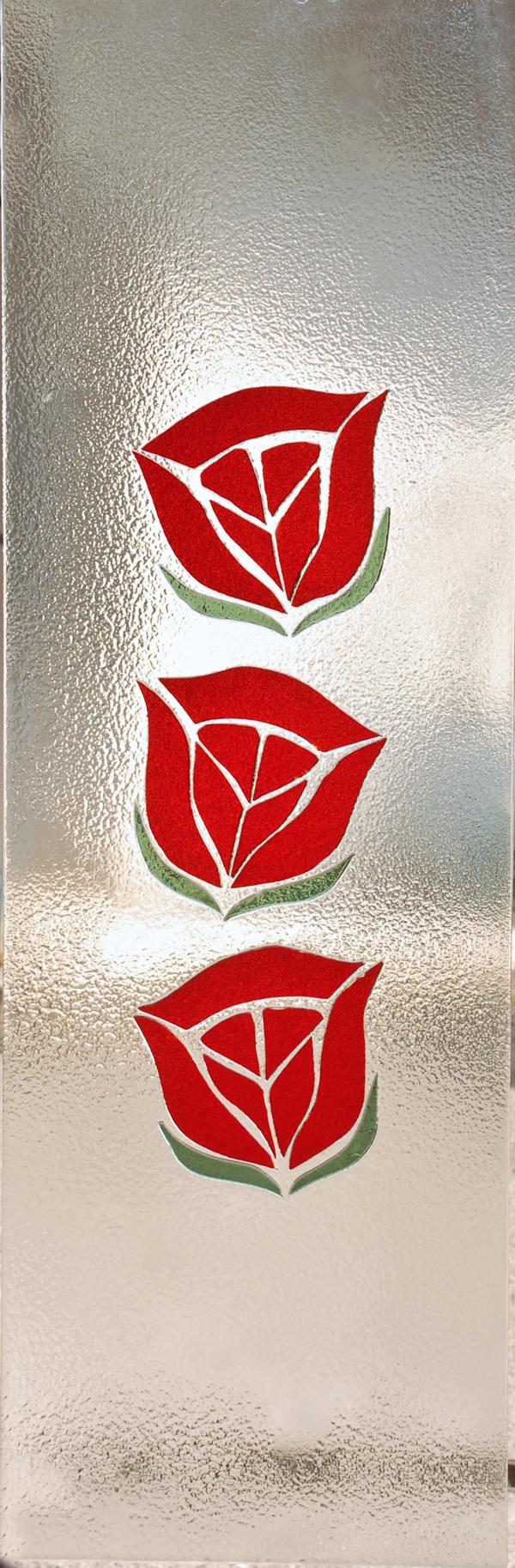 Vetrifusione tre rose, firmato Orvi Serramenti