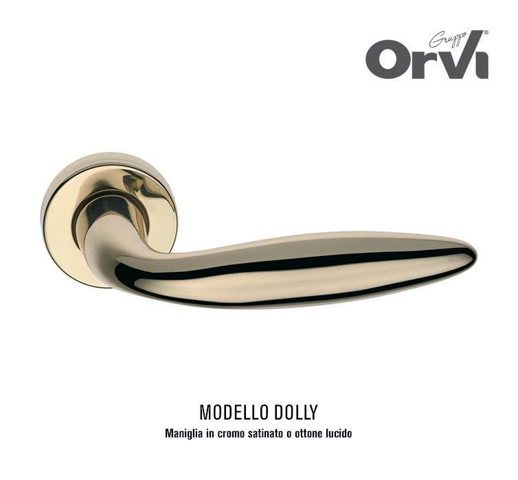 Offerta maniglia cromo satinata o in ottone lucido modello Dolly