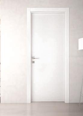 Porta in melaminico da interno, effetto legno perla-mandorla