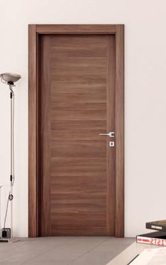 Porta interno, melamminico, effetto legno noce