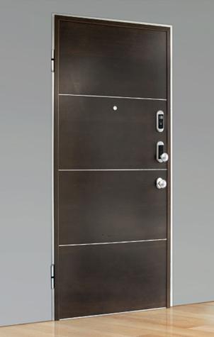 Porta blindata con serratura elettronica