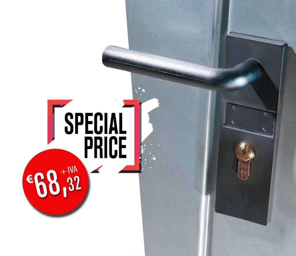 Offerta porta metallica zincata