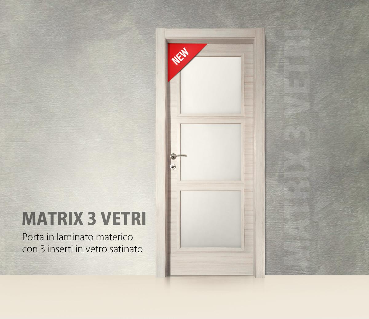 Porte Con Vetro Satinato porta matrix 3 vetri | nuovo modello di pota 2018 | gruppo
