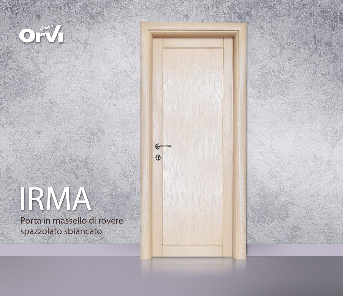 Porte Rovere Sbiancato Spazzolato porta irma in massello di rovere | porta da interno