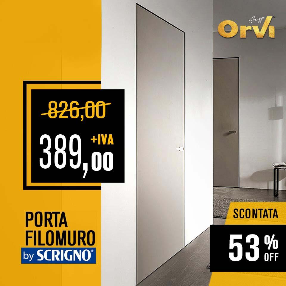 Porta filomuro by Scrigno in promo ad Euro 389,00 da Orvi Serramenti Roma