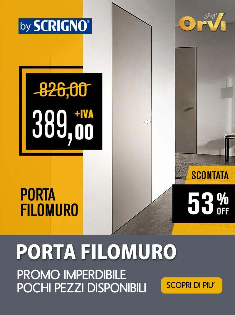 Promo porta filomuro by Scrigno